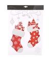 Kerst decoratie raamstickers sokken 2 stuks 40 cm type 1