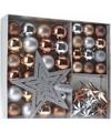 Kerst decoratie set 45 delig brons zilver goud royal classics