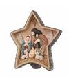 Kerst decoratie ster met kerststal 20 5 cm
