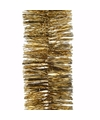 Kerst gouden folieslinger christmas gold 270 cm