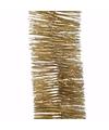 Kerst gouden glitter folieslinger christmas gold 270 cm