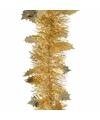 Kerst gouden hulst folieslinger christmas gold 270 cm