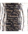 Kerst inpakpapier zilver rol 150 x 70 cm