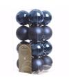 Kerst kerstballen blauw mix 4 cm elegant christmas 16 stuks