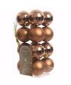 Kerst kerstballen brons mix 4 cm nature christmas 16 stuks