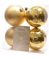 Kerst kerstballen goud 10 cm sweet christmas 4 stuks