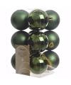 Kerst kerstballen groen 6 cm ambiance christmas 12 stuks
