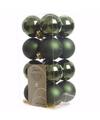 Kerst kerstballen groen mix 4 cm ambiance christmas 16 stuks