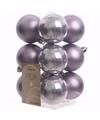 Kerst kerstballen lila 6 cm mystic christmas 12 stuks