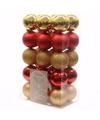 Kerst kerstballen mix 6 cm ambiance christmas 30 stuks