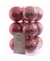Kerst kerstballen oud roze 6 cm sweet christmas 12 stuks