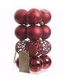 Kerst kerstballen rood 6 cm ambiance christmas 16 stuks