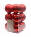 Kerst kerstballen rood 6 cm christmas red 12 stuks