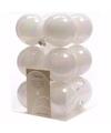 Kerst kerstballen wit 6 cm nature christmas 12 stuks