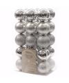 Kerst kerstballen zilver mix 6 cm christmas silver 30 stuks