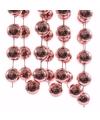 Kerst oud roze xxl kralenslinger sweet christmas 270 cm