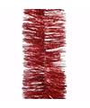 Kerst rode glitter folieslinger christmas red 270 cm