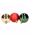 Kerst rood groene kerstballen mix traditional christmas 5 stuks
