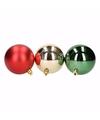 Kerst rood groene kerstballen mix traditional christmas 9 stuks