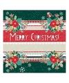 Kerst servetten merry christmas groen 20 stuks