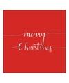 Kerst servetten merry christmas rood 20 stuks