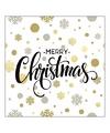 Kerst servetten merry christmas stippen 20 stuks
