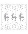 Kerst servetten rendier en stippen wit zilver 20 stuks
