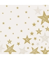 Kerst servetten shining star cream