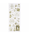 Kerst stickers goud 26 stuks