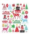 Kerstkaarten stickers Merry Christmas