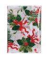Kerst thema tafelkleed wit met hulsttakken 180 x 130 cm