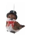 Kerst vogeltje met hoge hoed type 1
