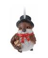 Kerst vogeltje met hoge hoed type 2