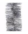 Kerst zilveren folieslinger mystic christmas 270 cm