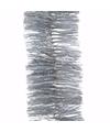 Kerst zilveren glitter folieslinger christmas silver 270 cm