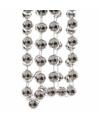 Kerst zilveren xxl kralenslinger christmas silver 270 cm