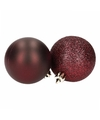Kerstballen mix bordeaux 8 stuks lovely classics