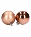 Kerstballen mix brons 8 stuks lovely classics