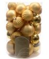 Kerstballen mix goud 34 stuks