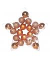 20 koper kleur kerstballen assortiment