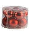 Kerstballen set rood 6 cm 10 stuks