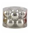 Kerstballen set zilver 6 cm 10 stuks