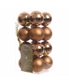 Kerstboom decoratie ballen brons 16 delig