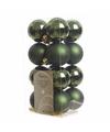 Kerstboom decoratie ballen groen 16 delig