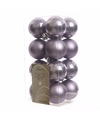 Kerstboom decoratie ballen lila 16 delig