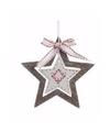 Kerstboom decoratie bruine ster 10 cm