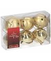 Kerstboom decoratie gouden kerstbellen 6 stuks
