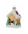 Kerstboom decoratie huisje hanger 8 cm