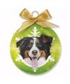 Kerstboom decoratie kerstbal hond berner sennen 8 cm