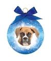 Kerstboom decoratie kerstbal hond boxer 8 cm